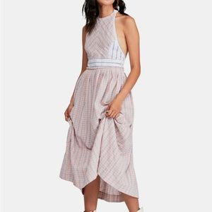 Free People boho-chic midi dress